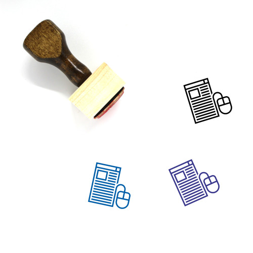 Browsing Wooden Rubber Stamp No. 7