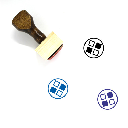 Applications Wooden Rubber Stamp No. 35