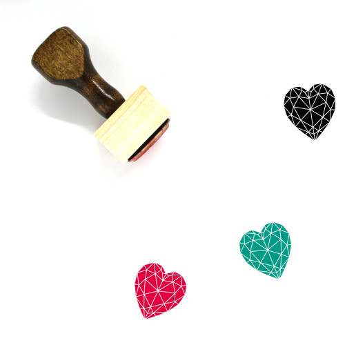 Heart Diamond Wooden Rubber Stamp No. 8