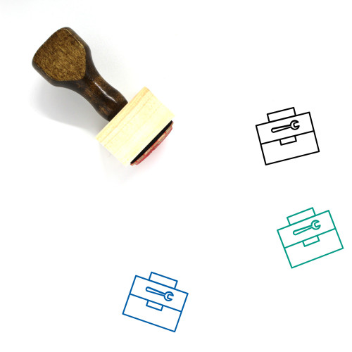 Tool Box Wooden Rubber Stamp No. 4