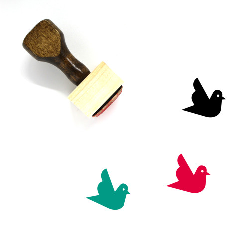 Pigeon Wooden Rubber Stamp No. 47