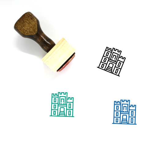 Cathedral Wooden Rubber Stamp No. 19