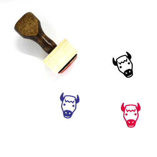 Bison Wooden Rubber Stamp No. 5