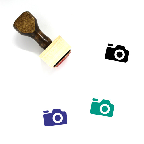 Photo Camera Wooden Rubber Stamp No. 1