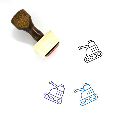 Tank Wooden Rubber Stamp No. 95