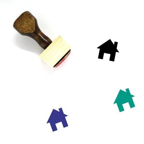 Accommodation Wooden Rubber Stamp No. 22