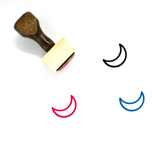 Moon Wooden Rubber Stamp No. 204