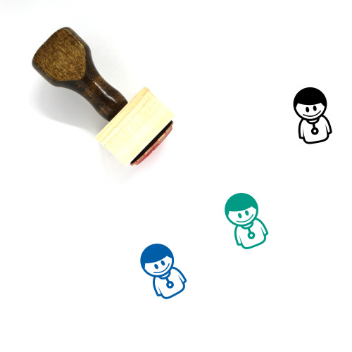 Doctor Wooden Rubber Stamp No. 172