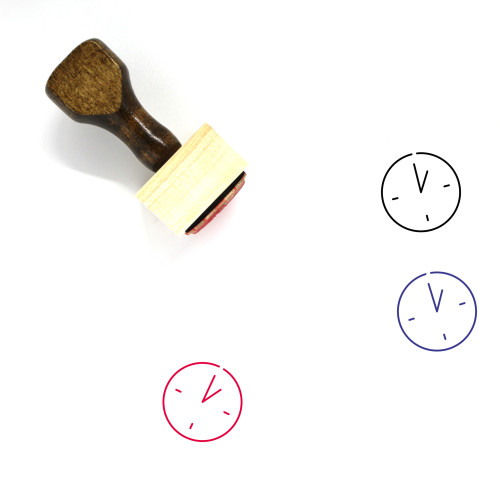 One O'clock Wooden Rubber Stamp No. 13