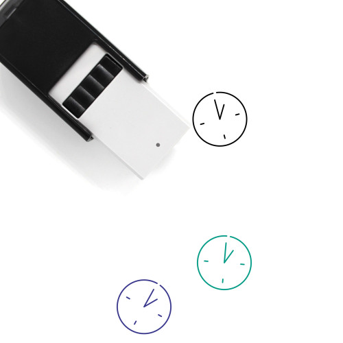 One O'clock Self-Inking Rubber Stamp No. 13