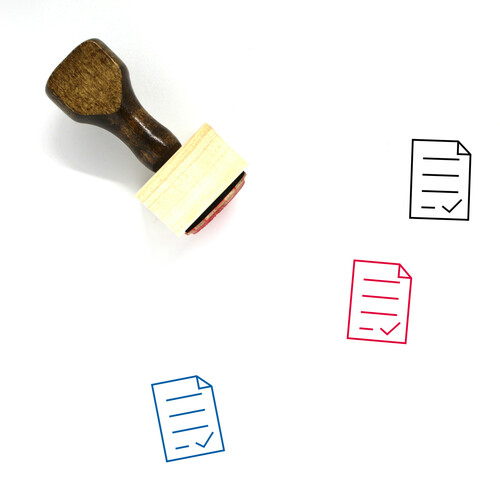 Approved Wooden Rubber Stamp No. 76