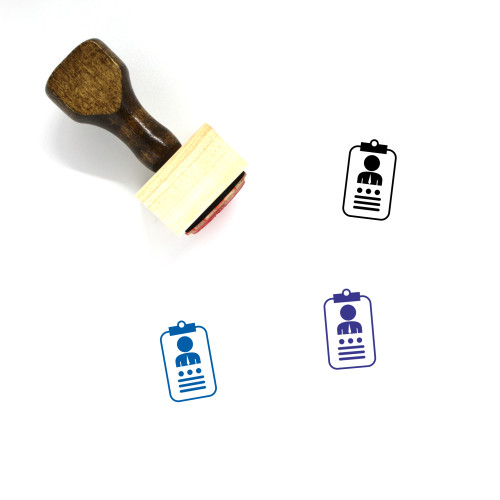 Identification Wooden Rubber Stamp No. 78