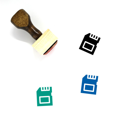 Micro Sd Wooden Rubber Stamp No. 12