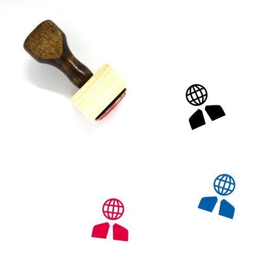 Global Business Wooden Rubber Stamp No. 35