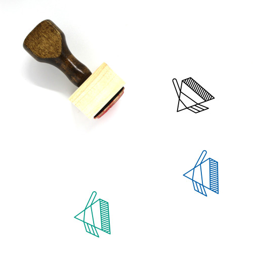 Prism Wooden Rubber Stamp No. 31