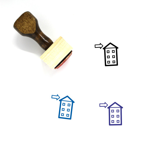 Roof Wooden Rubber Stamp No. 11