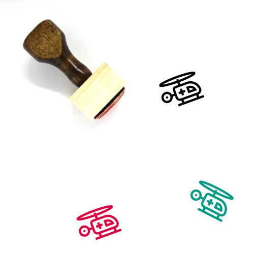 Air Ambulance Wooden Rubber Stamp No. 26