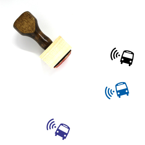 Wifi Bus Wooden Rubber Stamp No. 2
