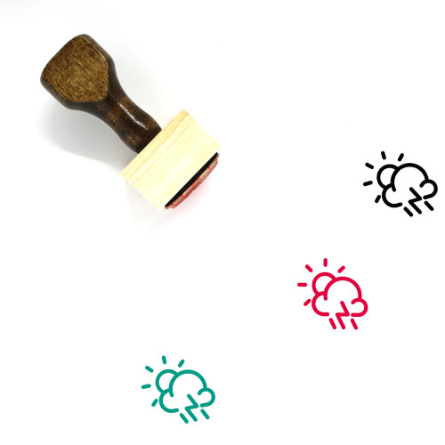 Day Storm Wooden Rubber Stamp No. 19