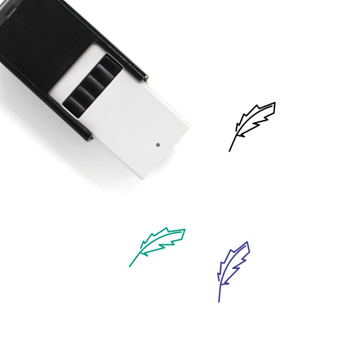 Feather Self-Inking Rubber Stamp No. 95