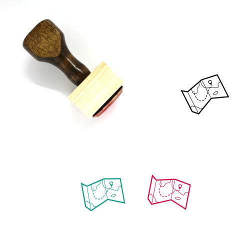 Map Wooden Rubber Stamp No. 662