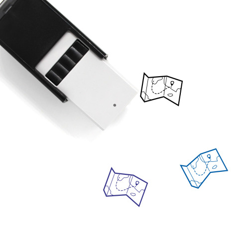 Map Self-Inking Rubber Stamp No. 662