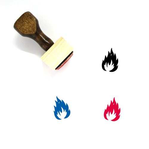 Fire Wooden Rubber Stamp No. 139