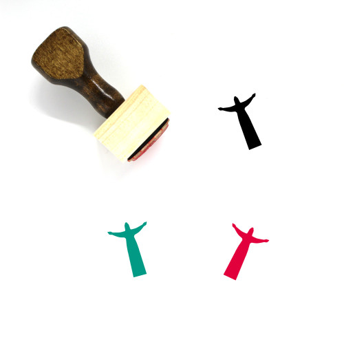 Christ The Redeemer Wooden Rubber Stamp No. 17
