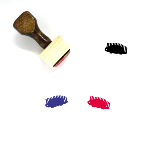 Porcupine Wooden Rubber Stamp No. 3