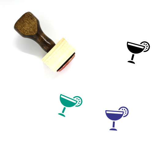 Cocktail Wooden Rubber Stamp No. 82