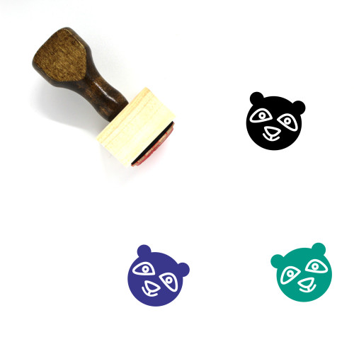 Panda Wooden Rubber Stamp No. 79