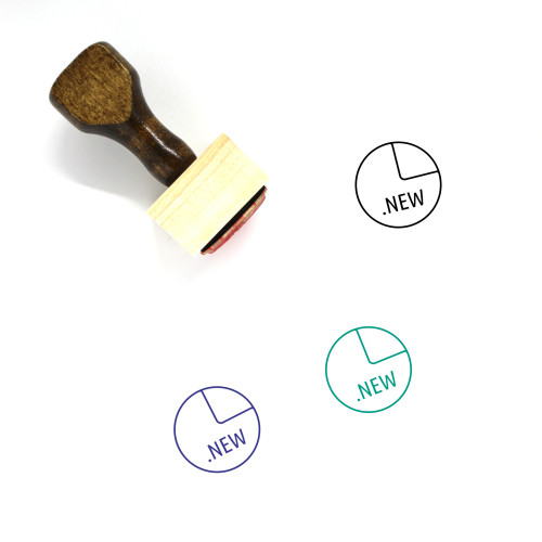 New File Wooden Rubber Stamp No. 40
