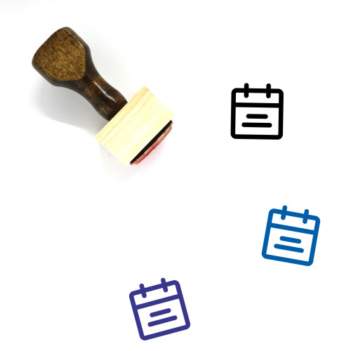 Date Wooden Rubber Stamp No. 67