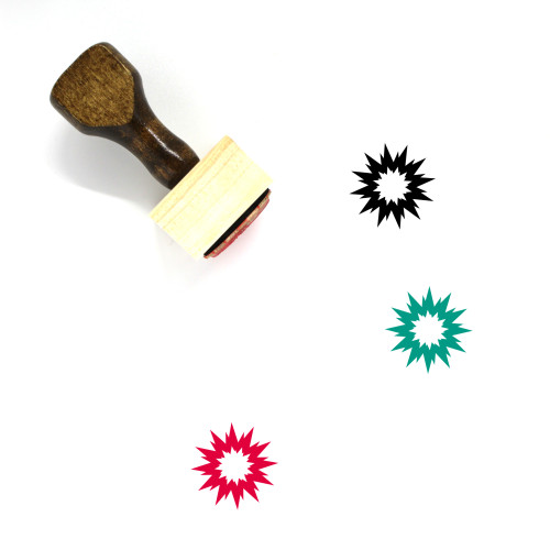 Explosion Wooden Rubber Stamp No. 43