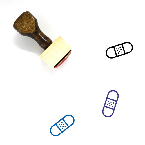 Bandaid Wooden Rubber Stamp No. 20