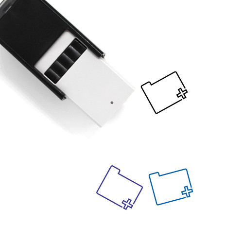 Add Folder Self-Inking Rubber Stamp No. 21