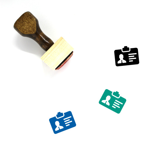 Id Card Wooden Rubber Stamp No. 74