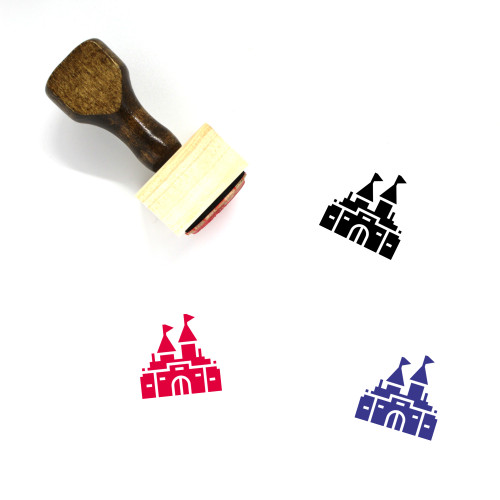 Castle Wooden Rubber Stamp No. 230