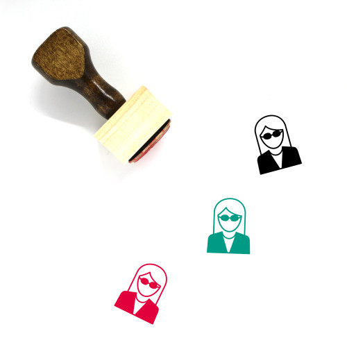 Secretary Wooden Rubber Stamp No. 34