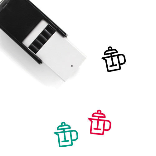 Coffee Plunger Self-Inking Rubber Stamp No. 4