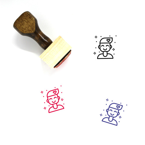 Attitude Wooden Rubber Stamp No. 1