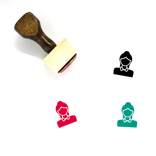Avatar Female Wooden Rubber Stamp No. 15