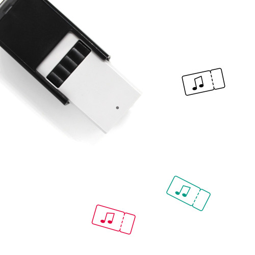 Concert Ticket Self-Inking Rubber Stamp No. 14