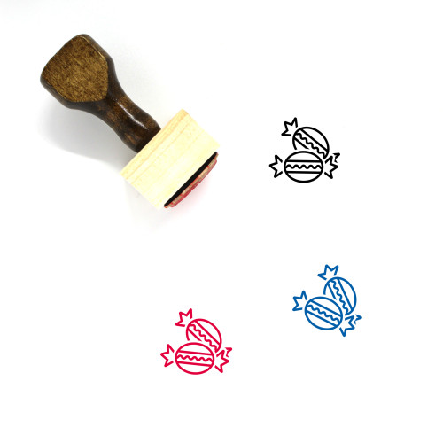 Bonbon Wooden Rubber Stamp No. 3