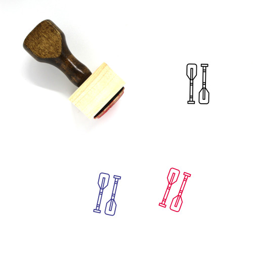 Paddles Wooden Rubber Stamp No. 21