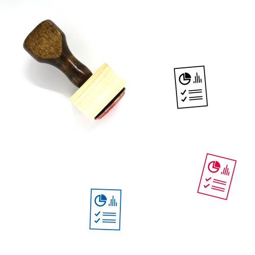 Report Wooden Rubber Stamp No. 188