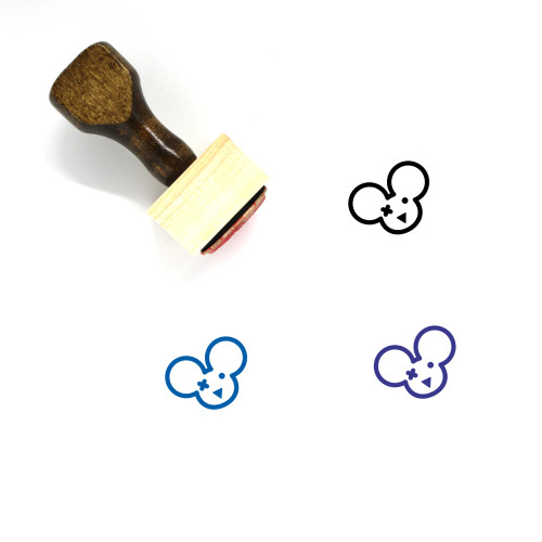 Baby Mouse Wounded Wooden Rubber Stamp No. 1