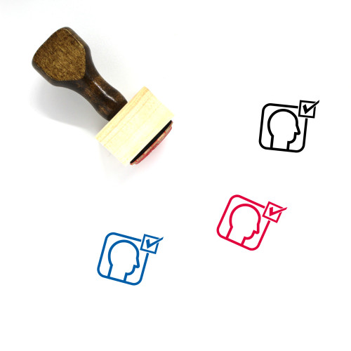 Recruitment Wooden Rubber Stamp No. 14