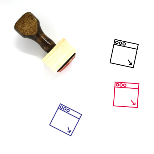 Minimize To Dock Wooden Rubber Stamp No. 1