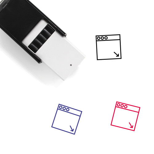 Minimize To Dock Self-Inking Rubber Stamp No. 1